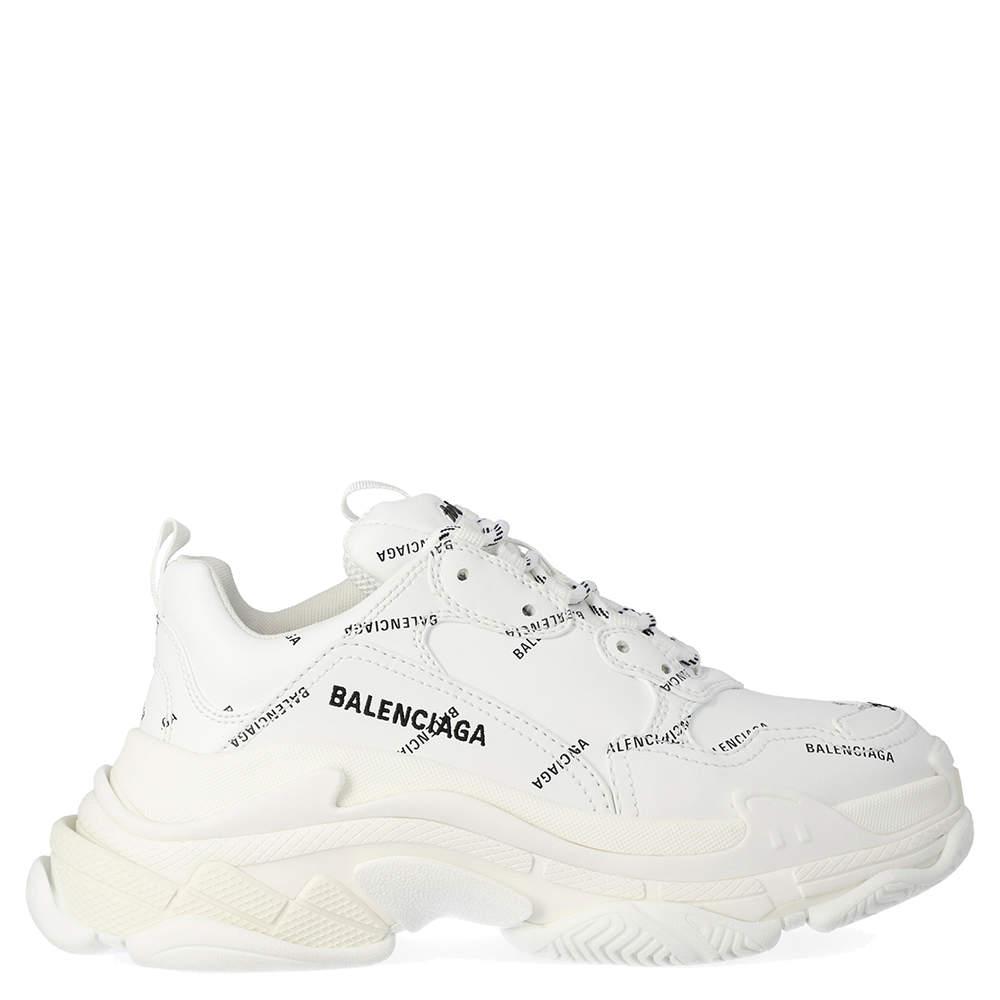 Balenciaga White Triple S Sneakers Size 35