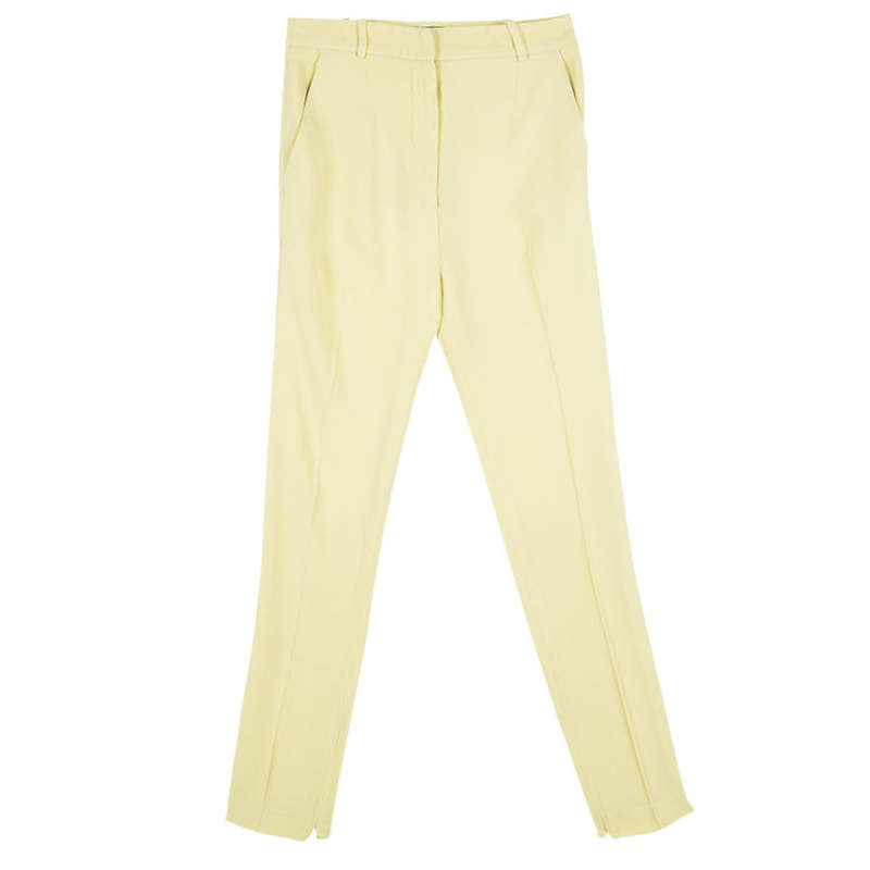 Balenciaga Yellow High Waist Tapered Pants S
