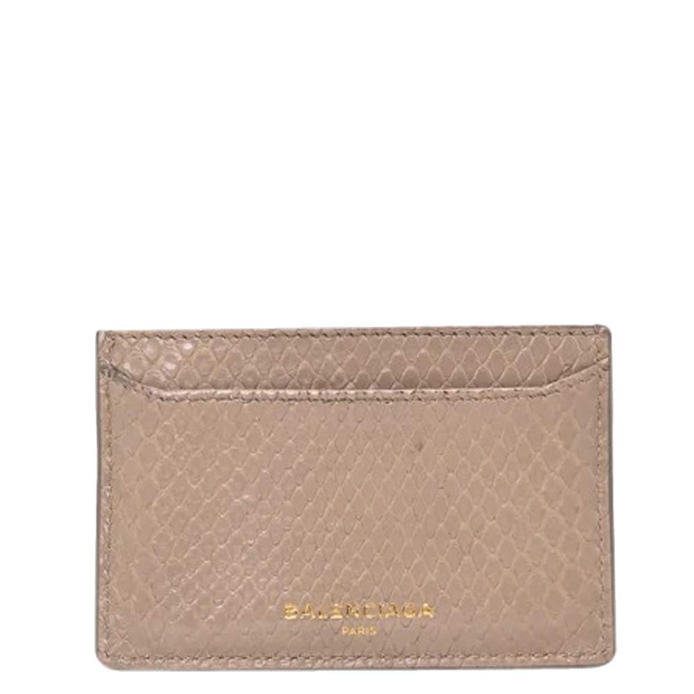 Balenciaga Beige Python wallet