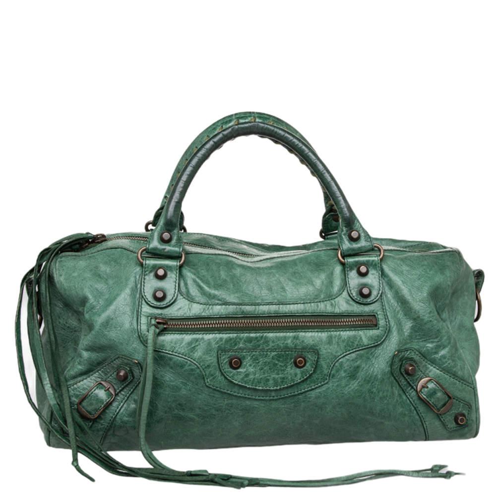 Balenciaga Emerald Leather RH Twiggy Bag