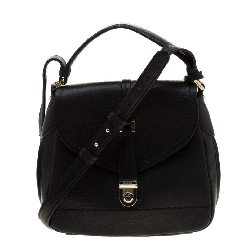 Bally Black Leather Crossbody Bag