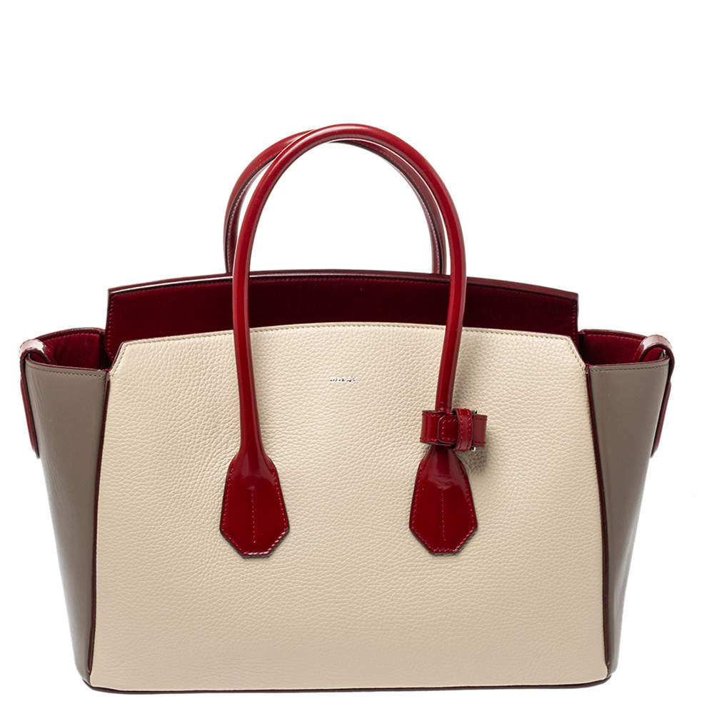 Bally Tricolor Leather Medium Sommet Tote
