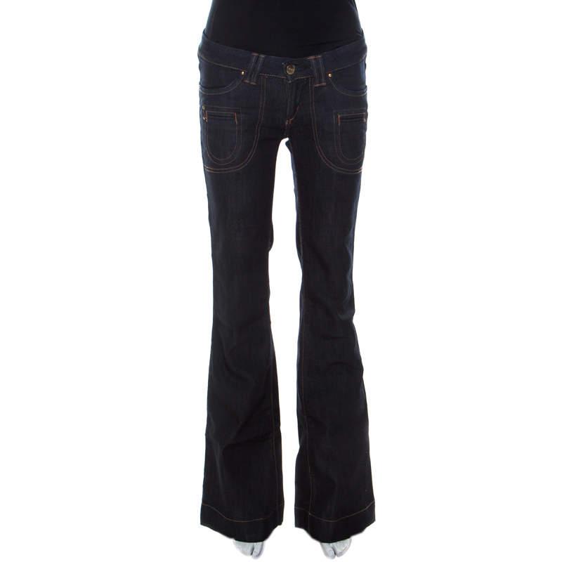 Barbara Bui Indigo Denim Low Rise Flared Jeans S