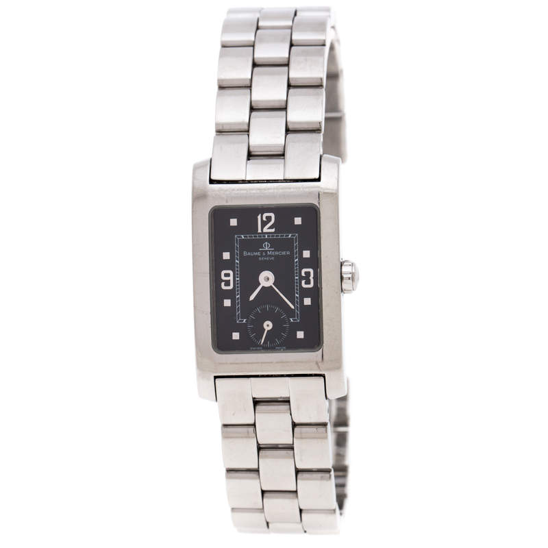 Baume & Mercier Black Stainless Steel Hampton MV045139 Women's Wristwatch 20 MM