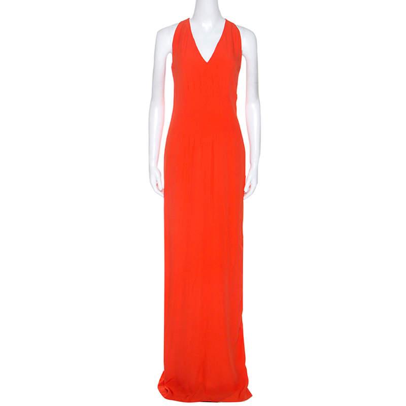 Boss By Hugo Boss Orange Sleeveless V-Neck Dallisia Dress S