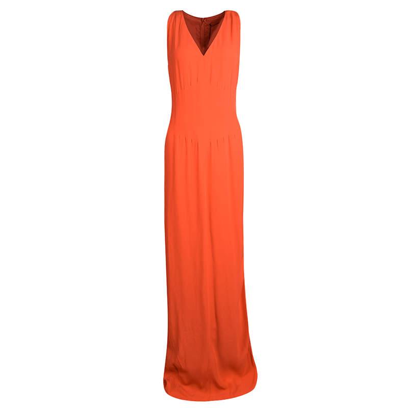 Boss By Hugo Boss Orange Sleeveless V-Neck Dallisia Dress M