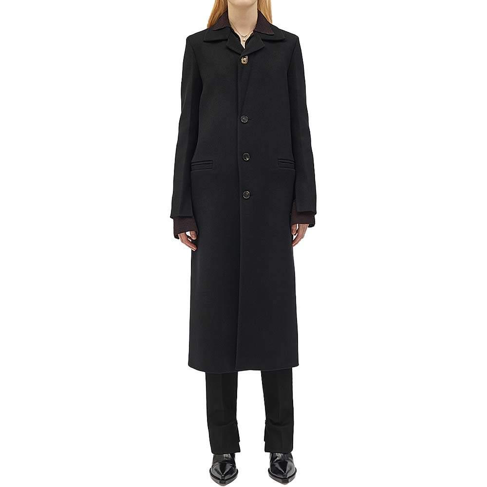 Bottega Veneta Black Wool Coat Size 44