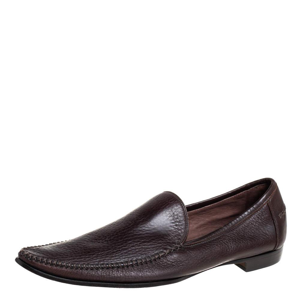 حذاء لوفرز بوتيغا فينيتا مقدمة مدببة جلد بني مقاس 41