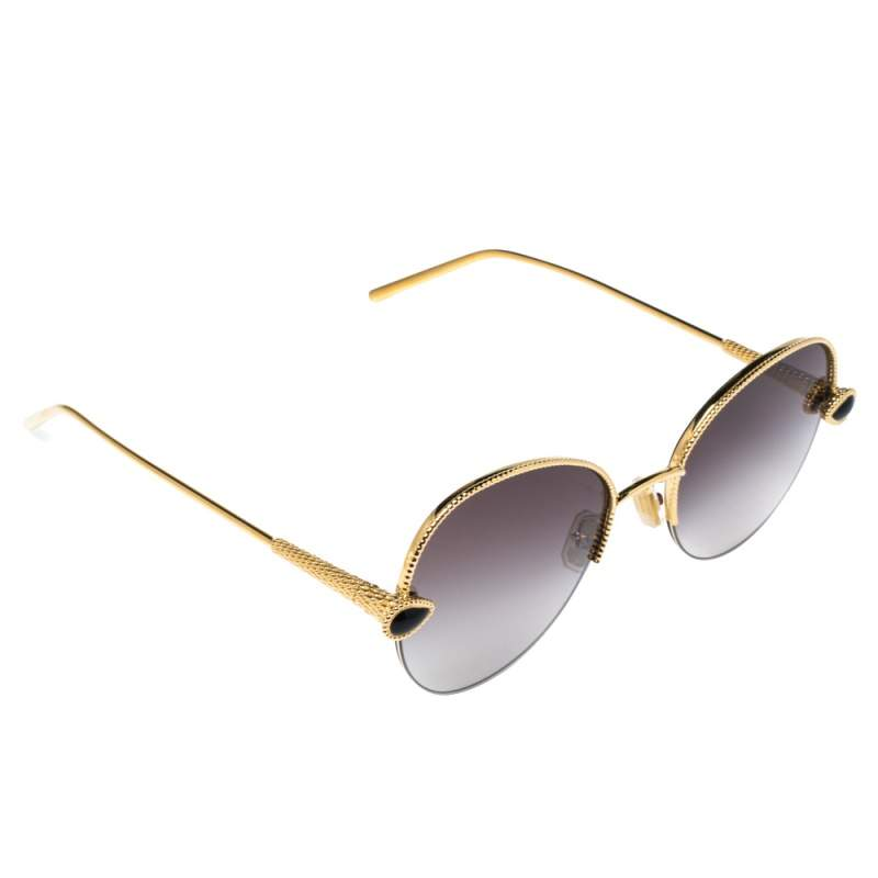 Boucheron Gold Tone/ Bicolor Gradient BC0079S Round Sunglasses