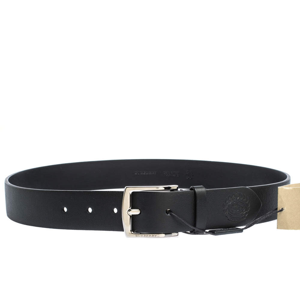 Burberry Black Leather Buckle Belt 85CM