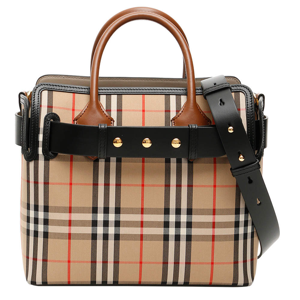 Burberry Beige Check Vintage The Small Belt Bag