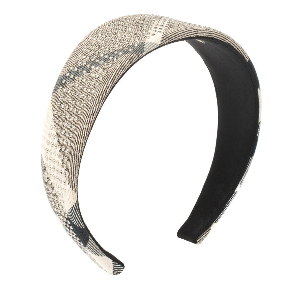 Burberry Beige Studded Novacheck Hair Band