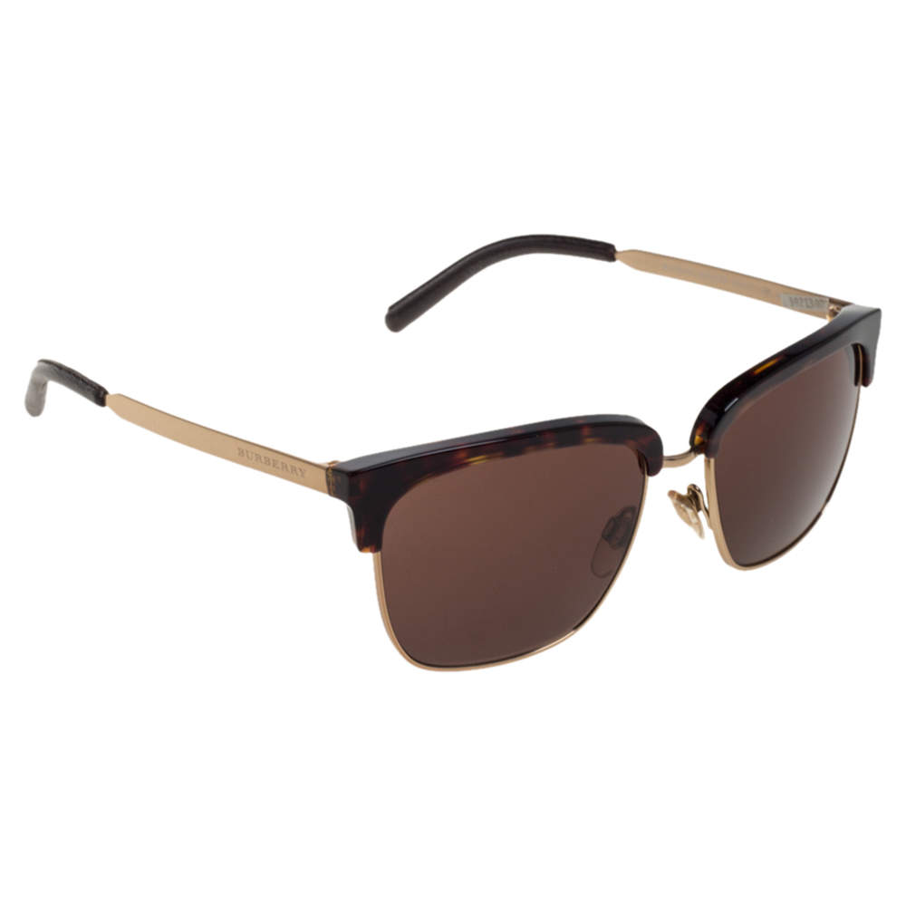 Burberry Havana/ Brown B 4154-Q Square Clubmaster Sunglasses