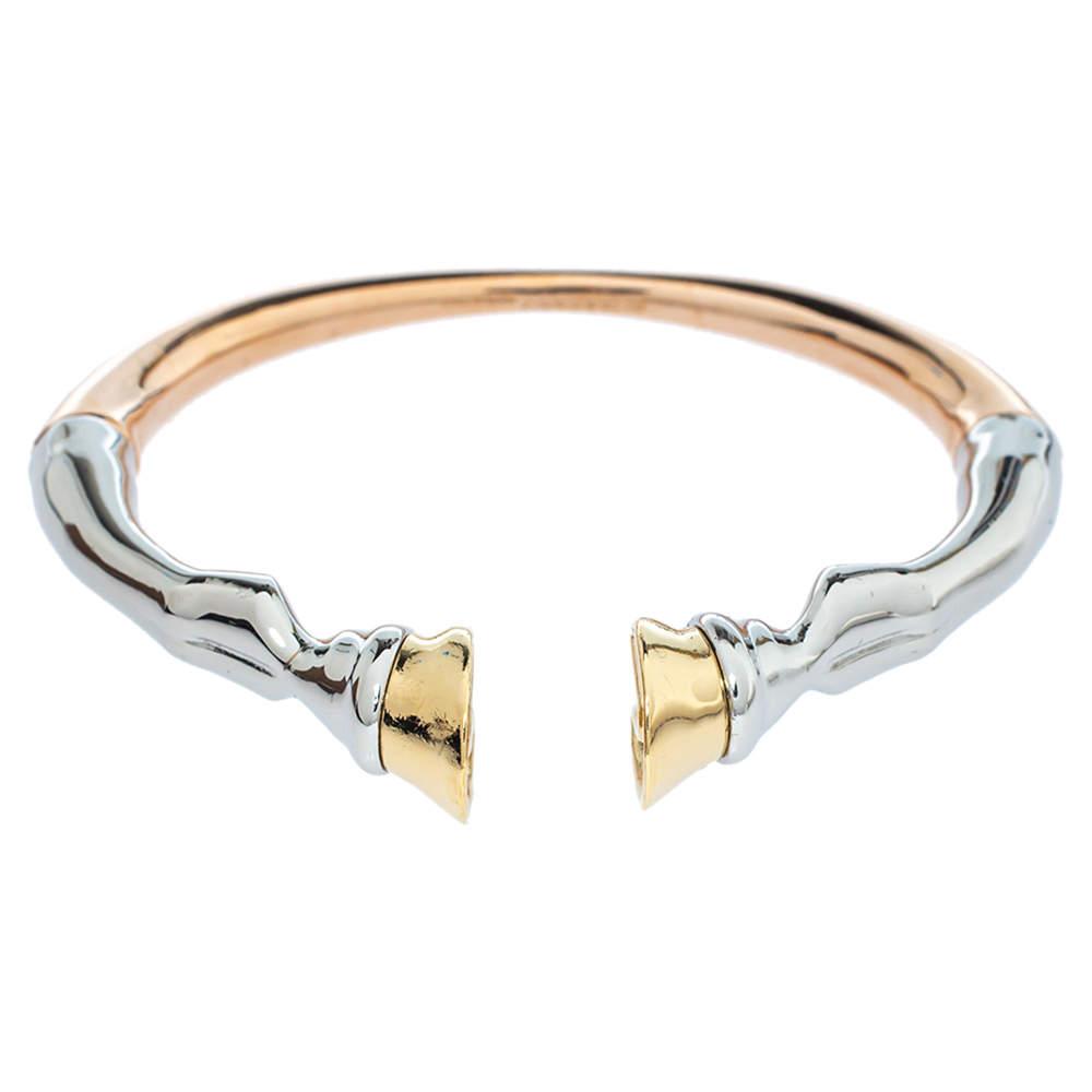 Burberry Three Tone Hoof Cuff Bracelet S