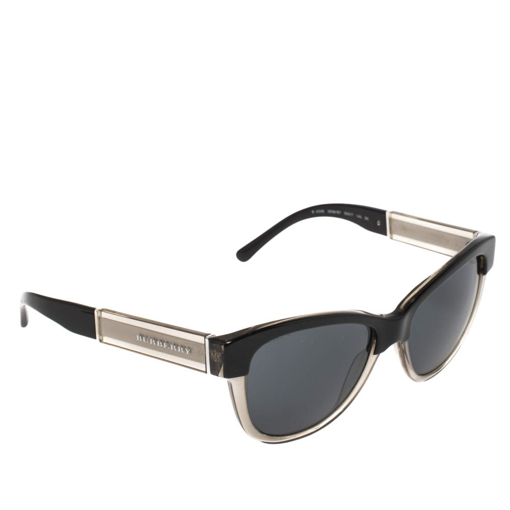 Burberry Black/ Dark Grey BE-4206 Cat Eye Sunglasses