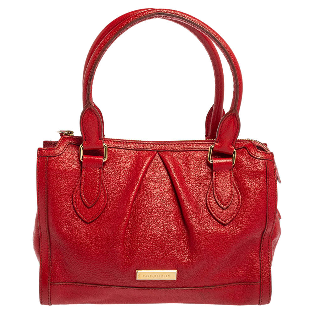 Burberry Red Leather Satchel