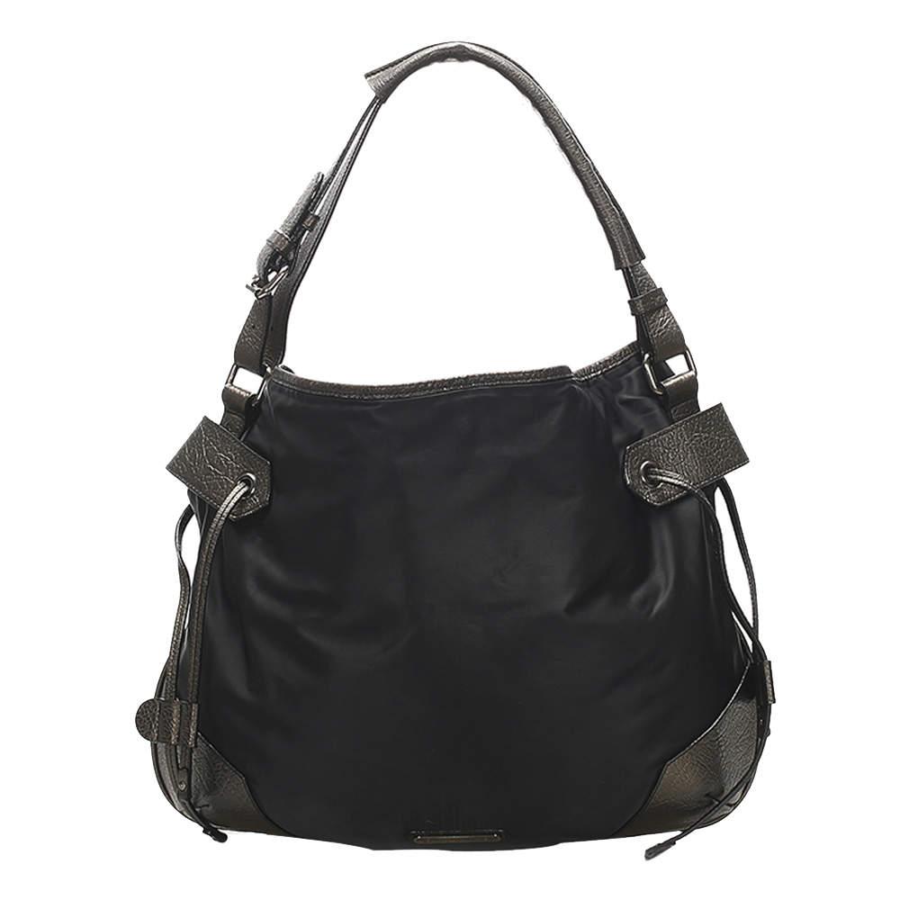 Burberry Black Nylon Shoulder Bag