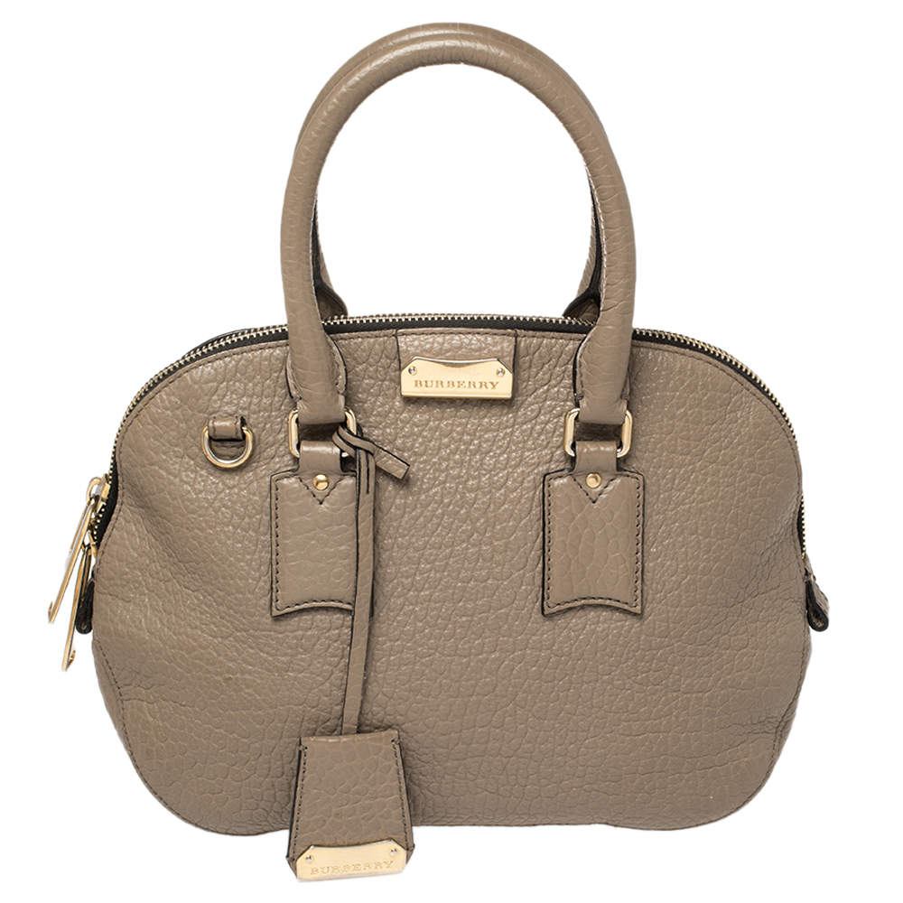 Burberry Grey Grain Leather Orchard Satchel