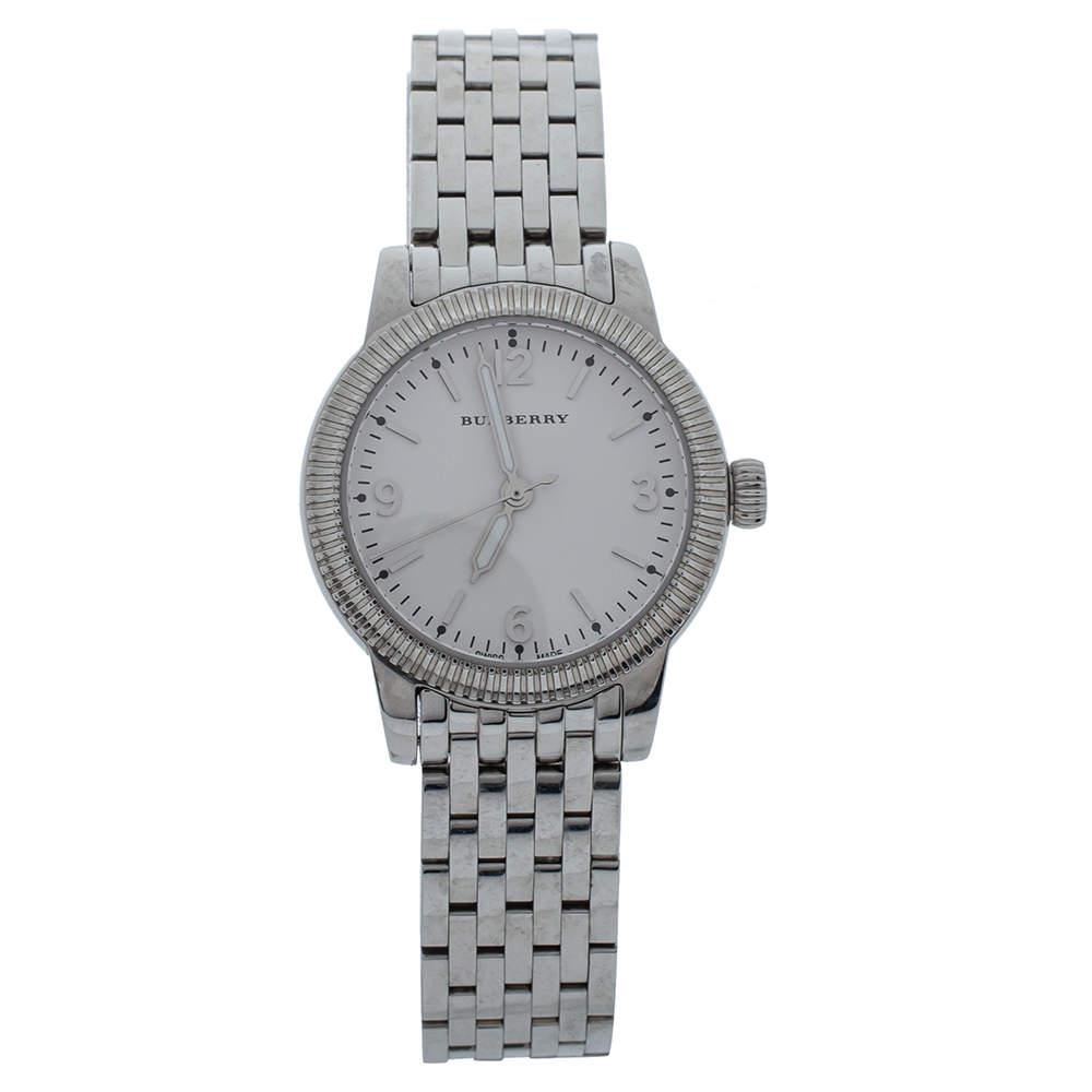 Burberry White Stainless Steel The Utilitarian BU7856 Women's Wristwatch 30MM