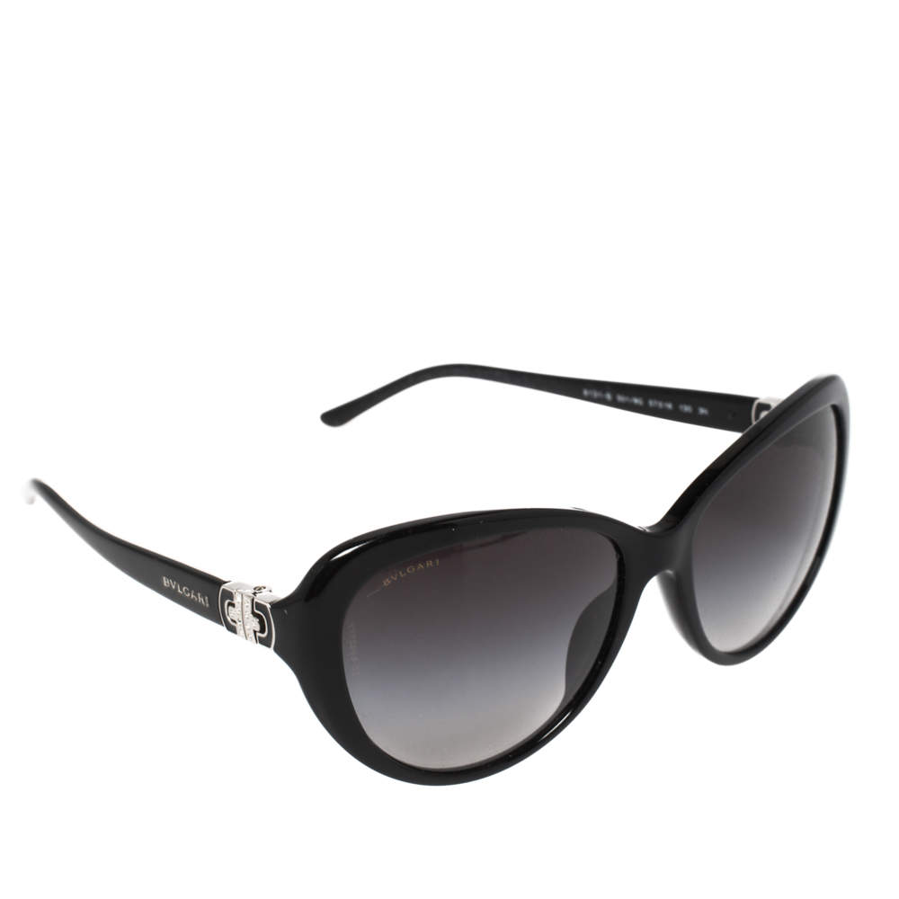 Bvlgari Black/ Black Gradient 8131B - B Cat-Eye Sunglasses