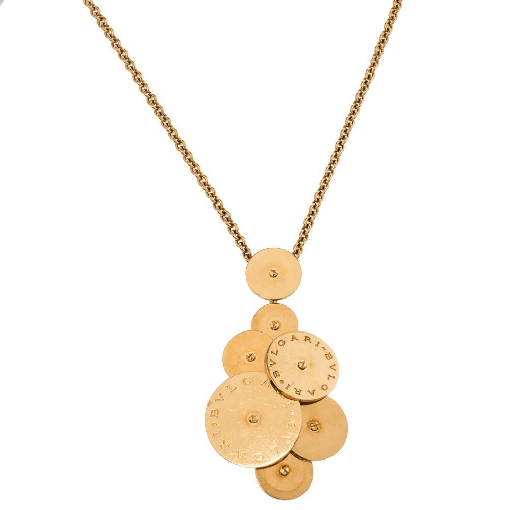 Bvlgari Cicladi 18K Yellow Gold Pendant Necklace