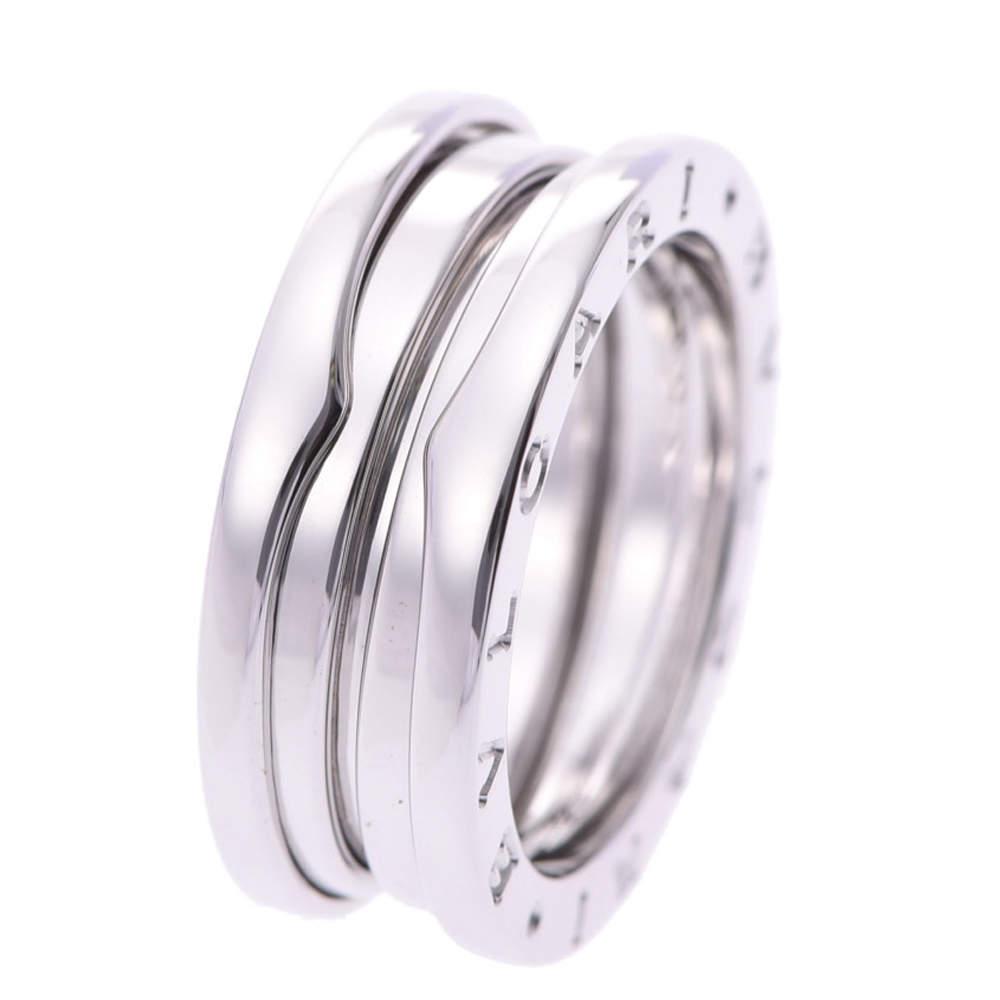 Bvlgari B.Zero1 1-Band 18K White Gold Ring Size EU 53