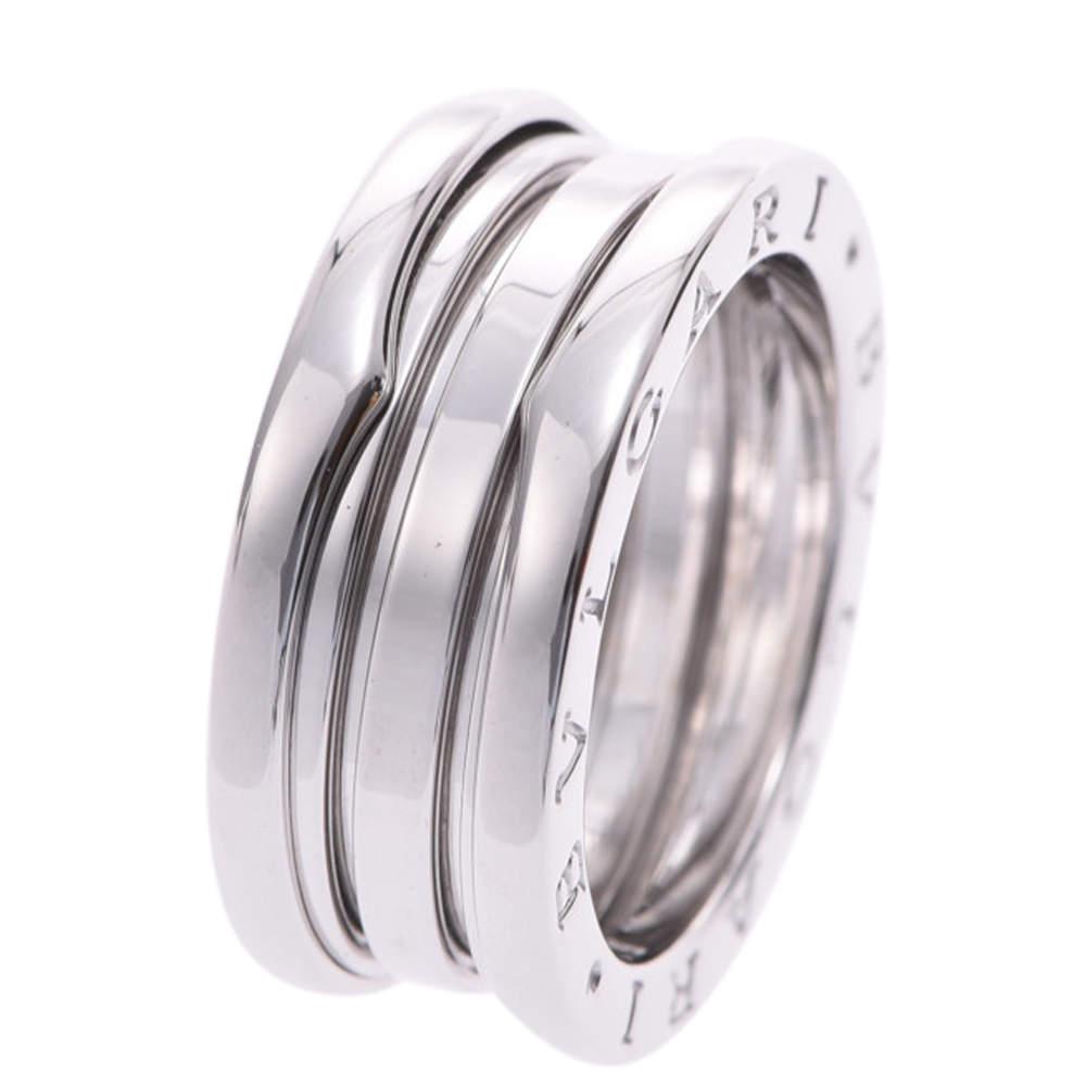 Bvlgari B.Zero1 18K White Gold Ring Size EU 53