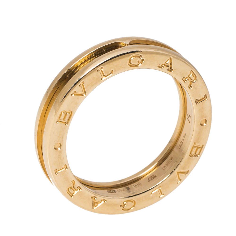 Bvlgari B.Zero1 18K Yellow Gold 1-Band Ring Size 57
