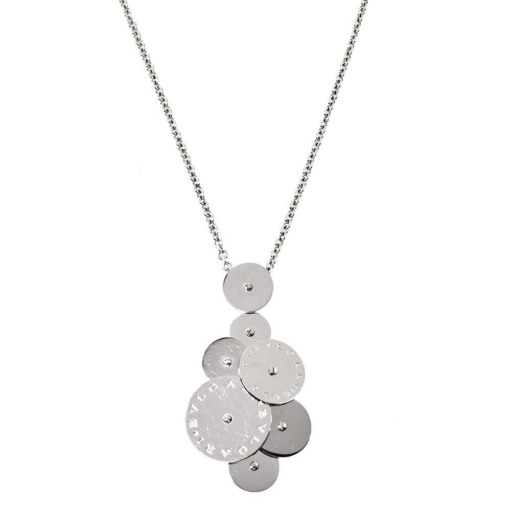 Bvlgari Cicladi 18K White Gold Pendant Necklace