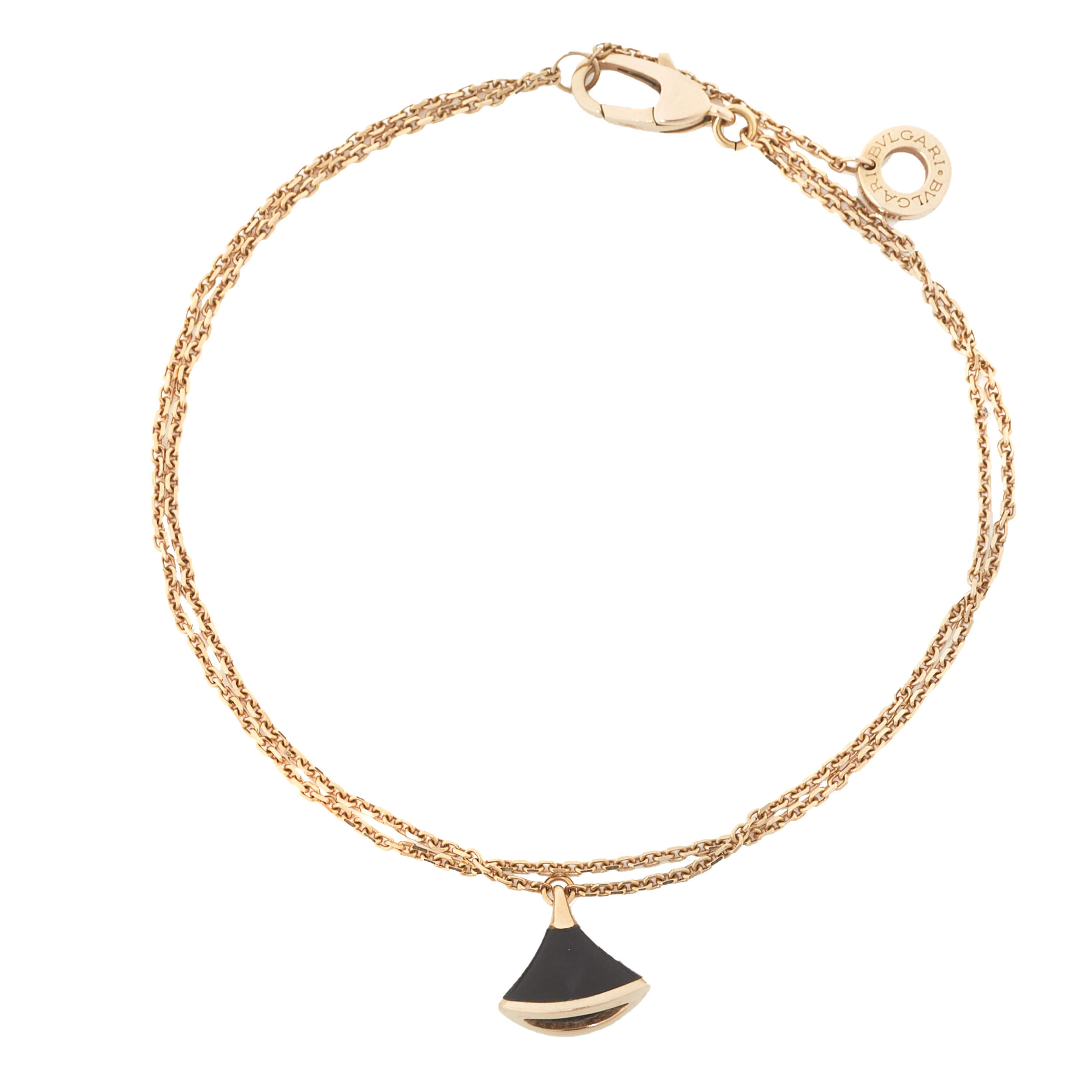 Bvlgari Divas' Dream Onyx 18K Rose Gold Bracelet ML