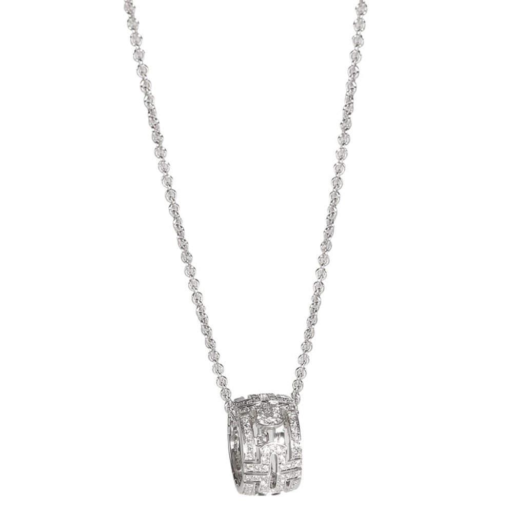 Bvlgari 18K White Gold Parentesi 0.65 CTW Diamond Necklace