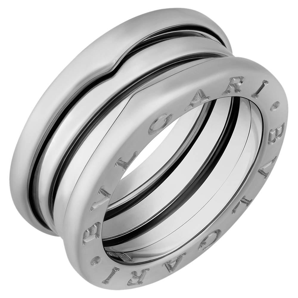 Bvlgari 18K White Gold B.Zero1 3 Band Ring Size EU 52