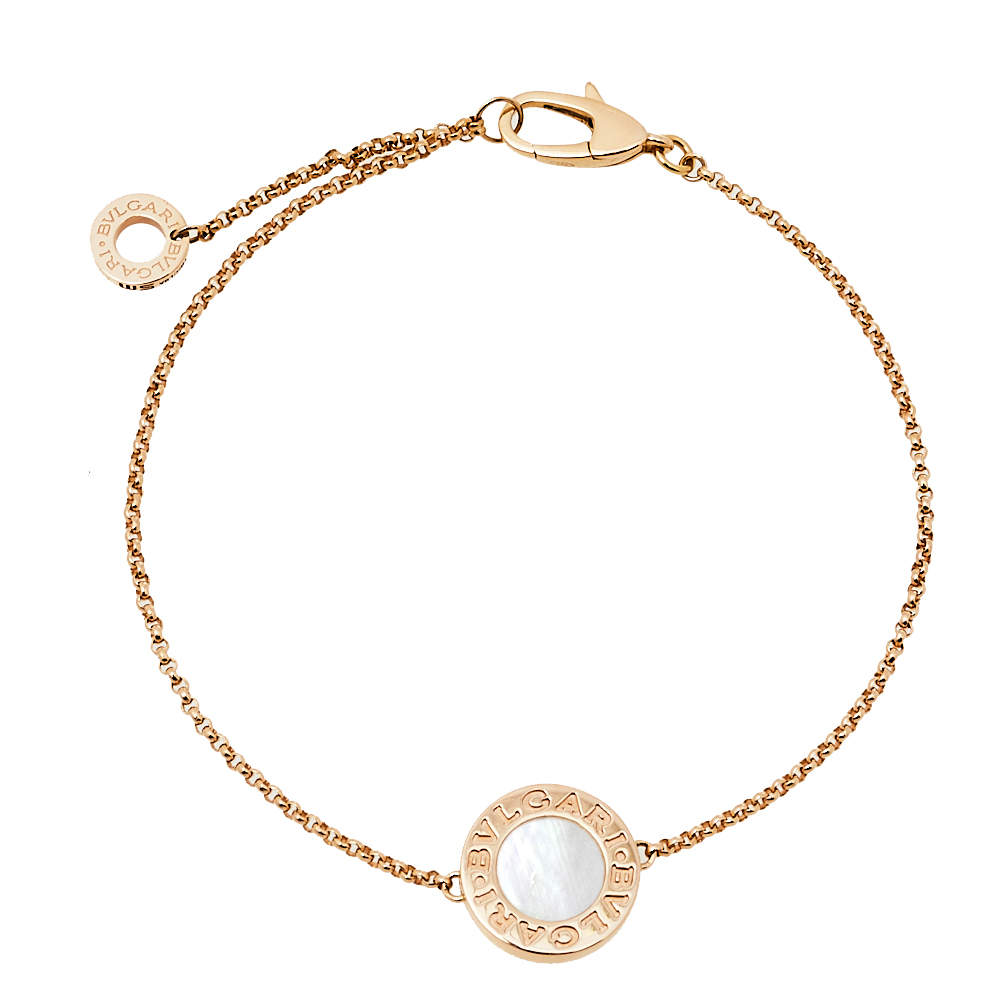 Bvlgari Bvlgari Mother of Pearl 18K Rose Gold Bracelet