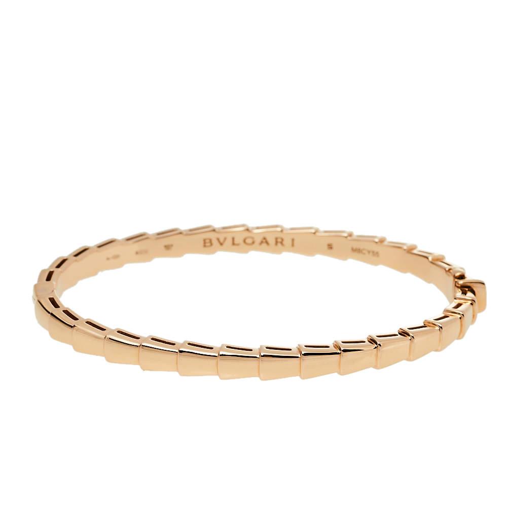 Bvlgari Serpenti Viper 18K Rose Gold Bracelet S