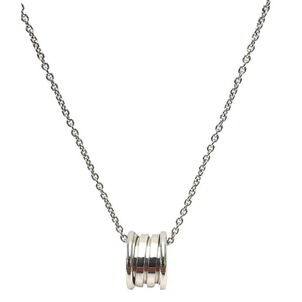 Bvlgari 18K White Gold B.Zero1 Necklace