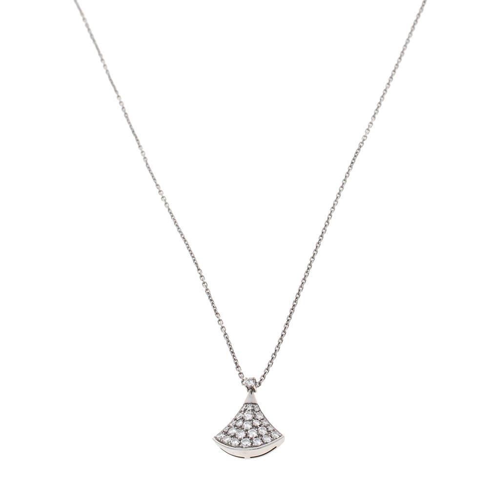 Bvlgari Divas' Dream Diamond 18K White Gold Pendant Necklace