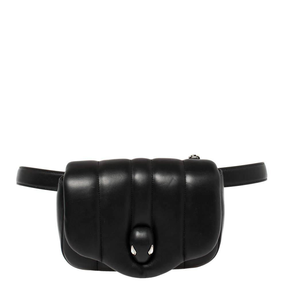 Bvlgari Black Leather Ambush Belt Bag