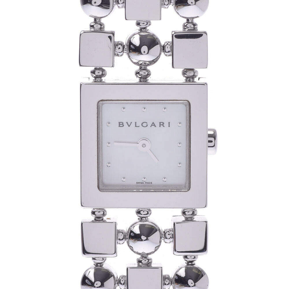 Bvlgari MOP 18K White Gold Lucia LUW16G Women's Wristwatch 15 x 15 MM