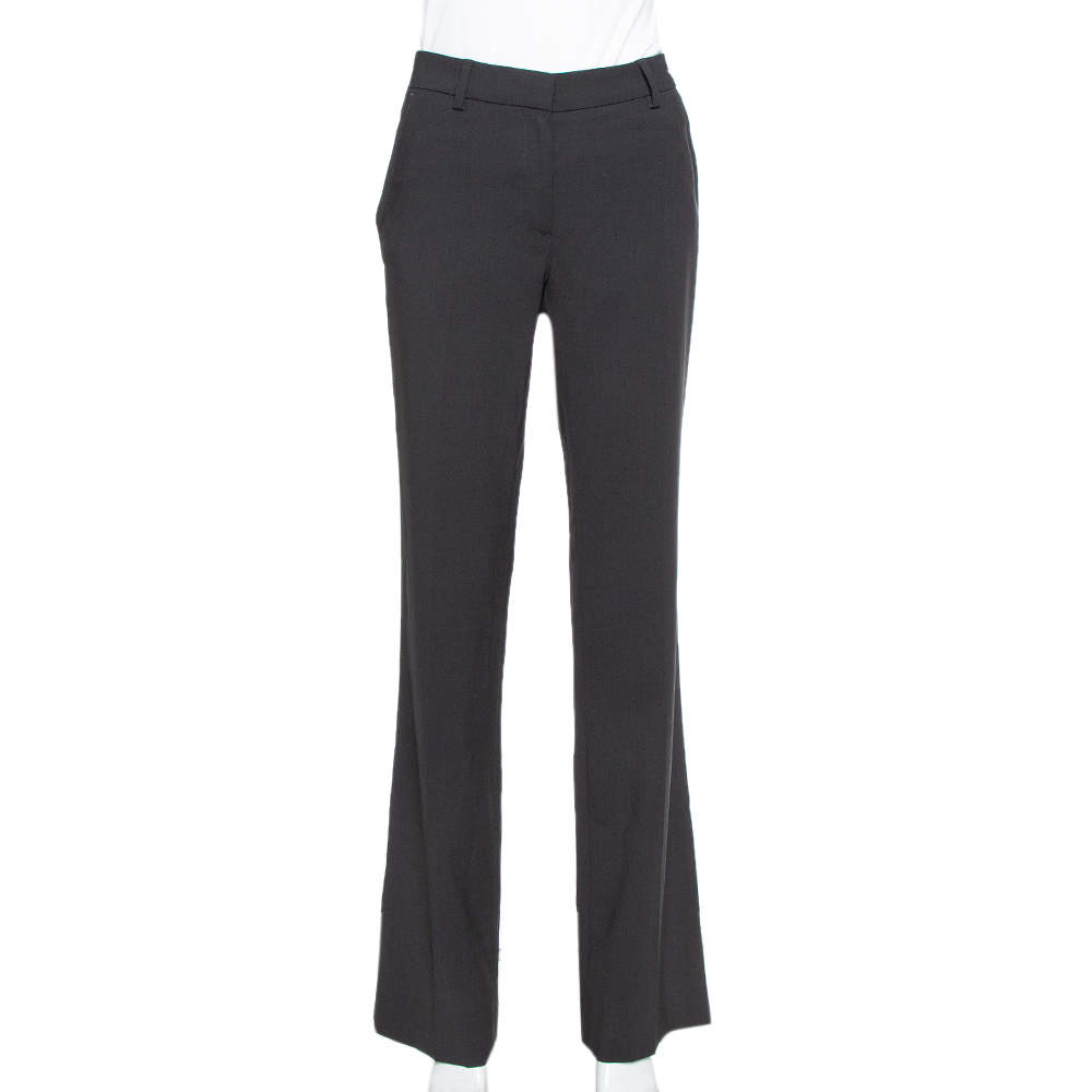 CH Carolina Herrera Black Wool Straight Leg Pants S