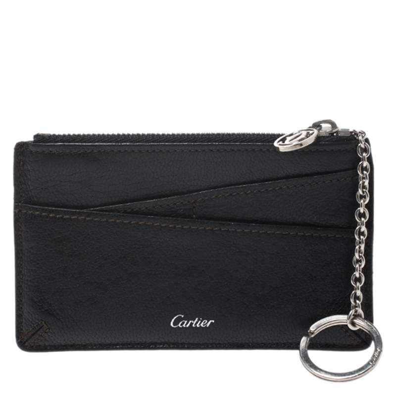 Cartier Black Leather Key Pouch