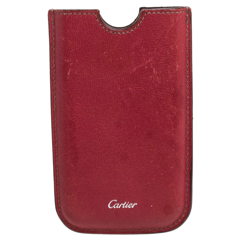 Cartier Red Leather iPhone Case