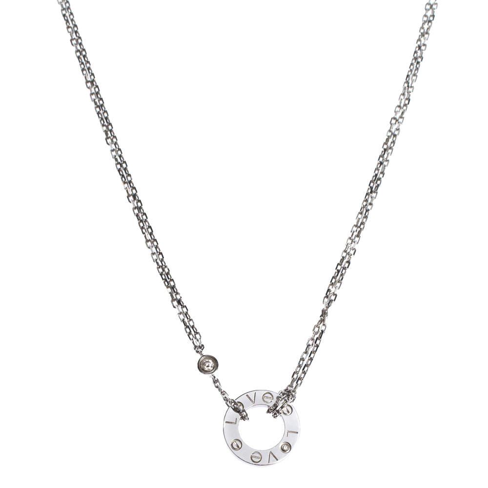 Cartier Love 2 Diamonds 18K White Gold Necklace