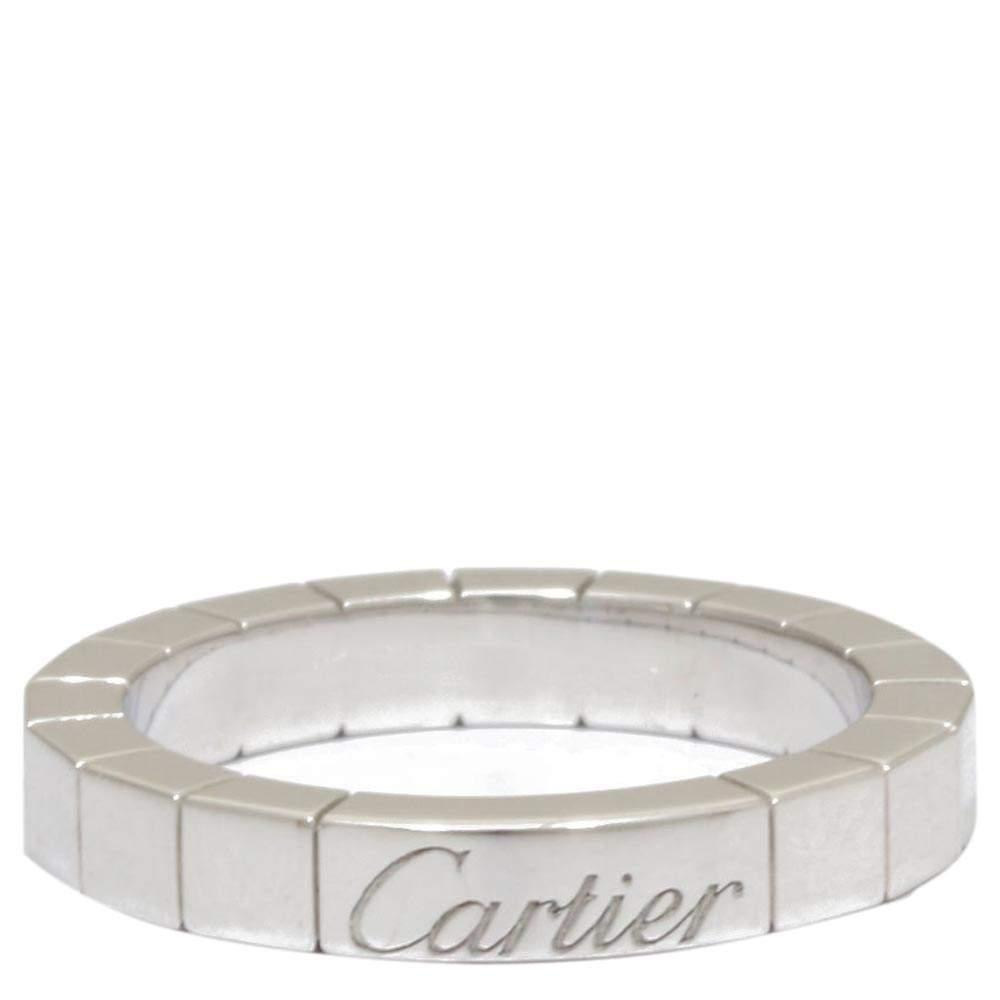 Cartier Lanieres 18K White Gold Ring Size 48