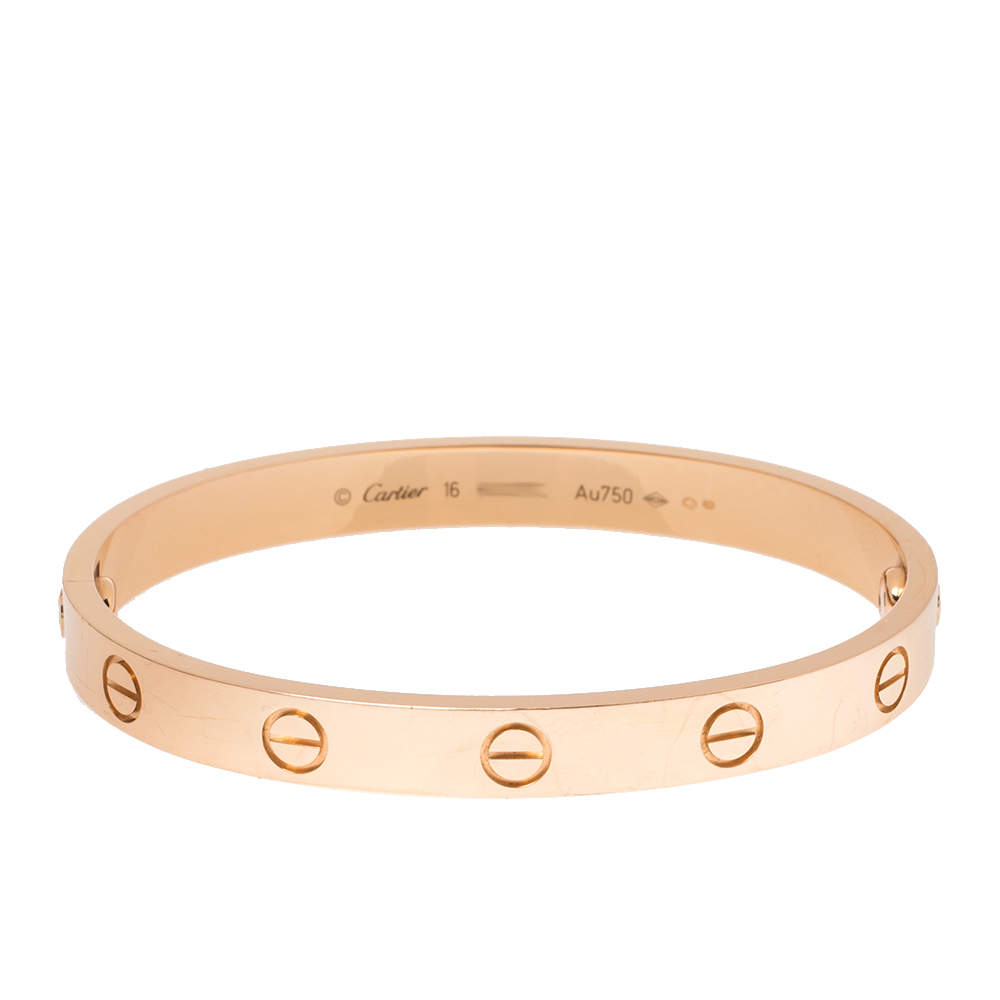 Cartier LOVE 18K Rose Gold Bracelet 16