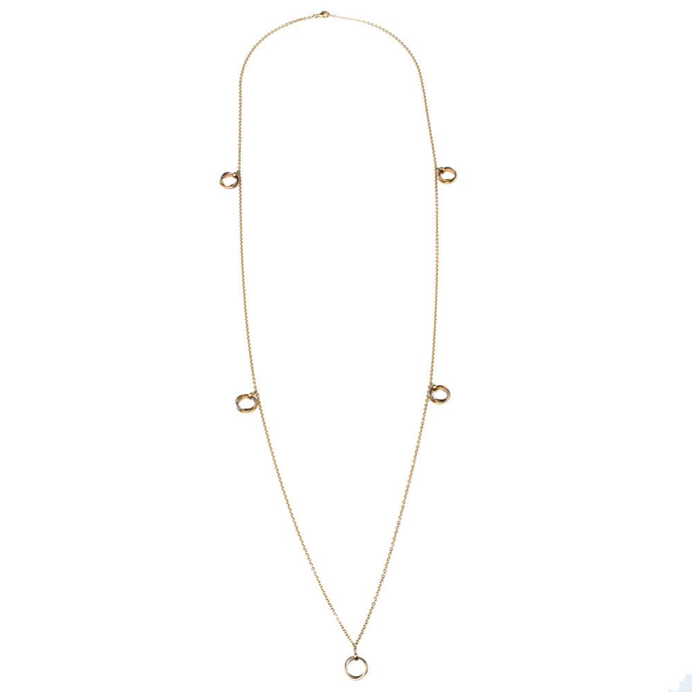 Cartier Trinity de Cartier 18K Three Tone Gold Station Necklace