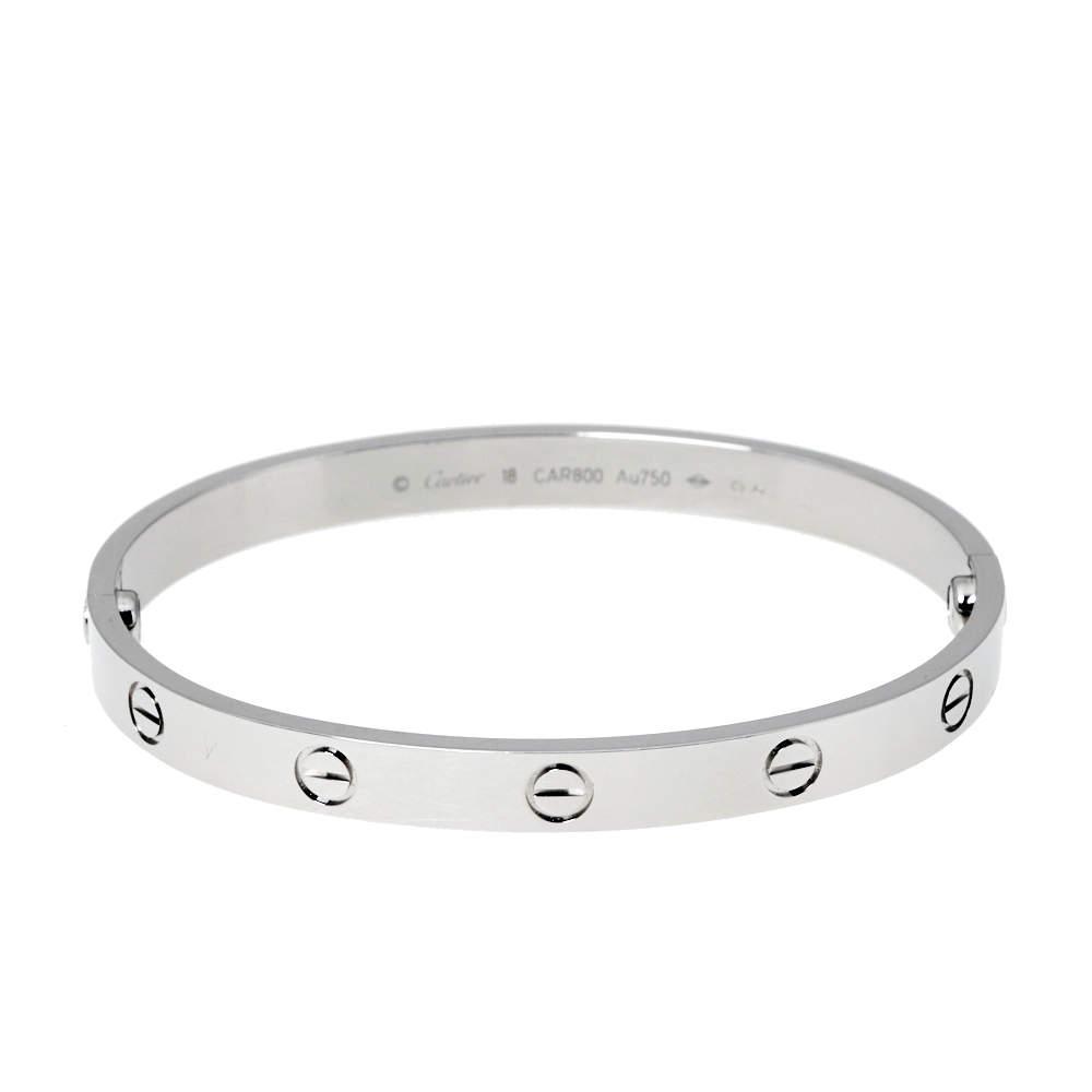 Cartier Love 18K White Gold Bracelet 18