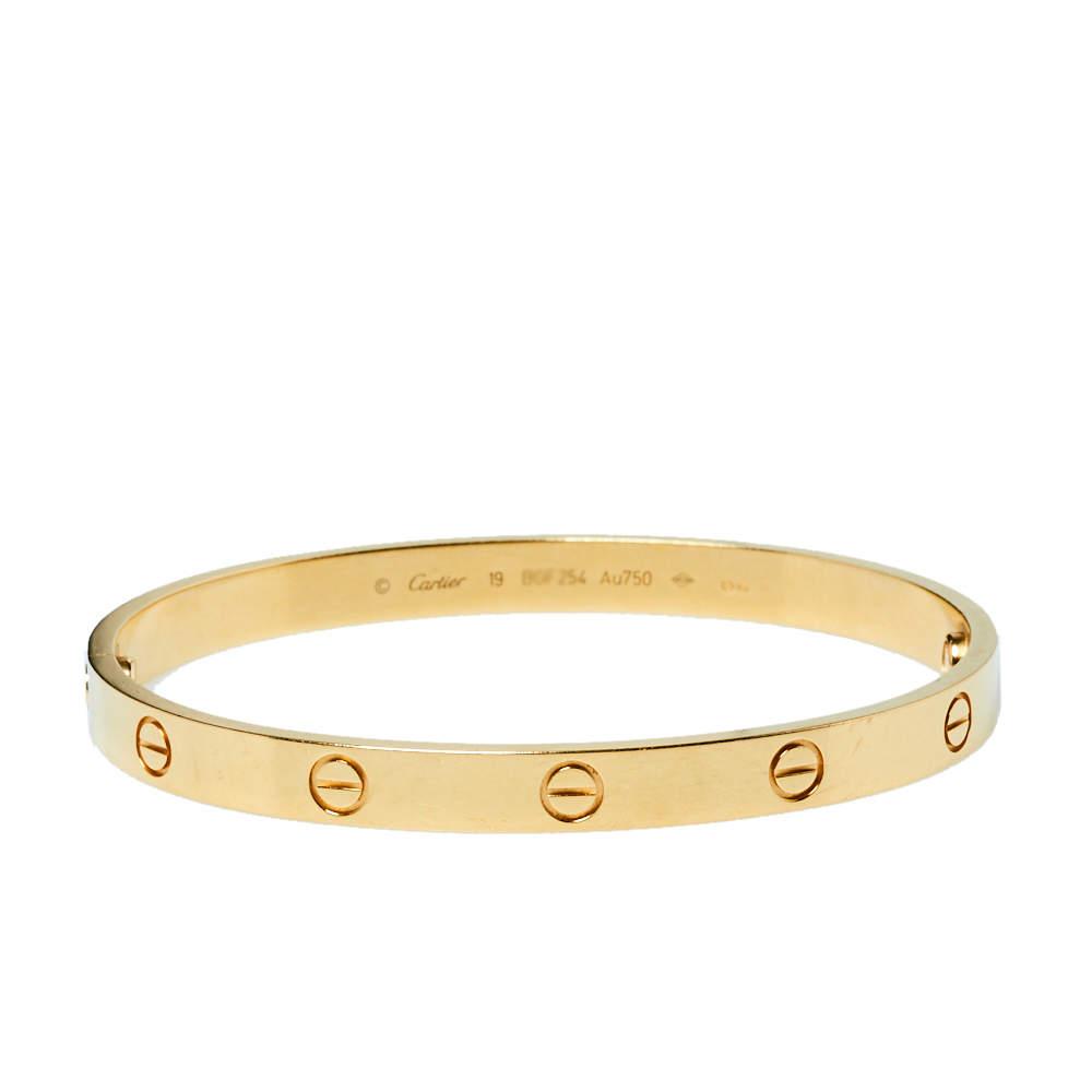 Cartier Love 18K Yellow Gold Bracelet 19