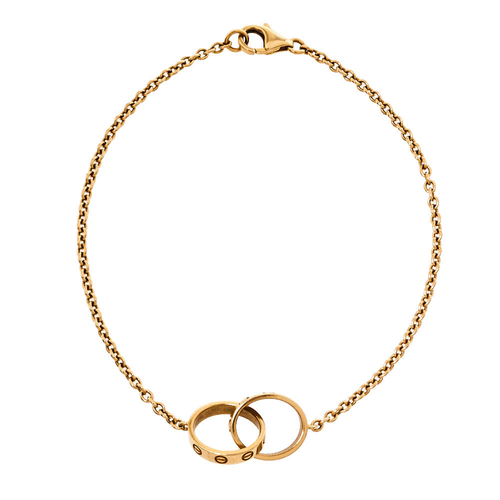 Cartier Love Interlocking Screw Motif 18K Yellow Gold Bracelet