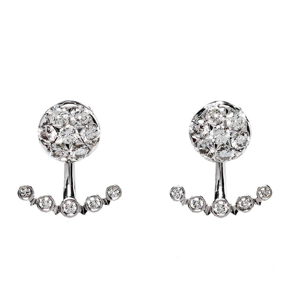 Cartier Etincelle De Cartier Diamond 18K White Gold Earrings