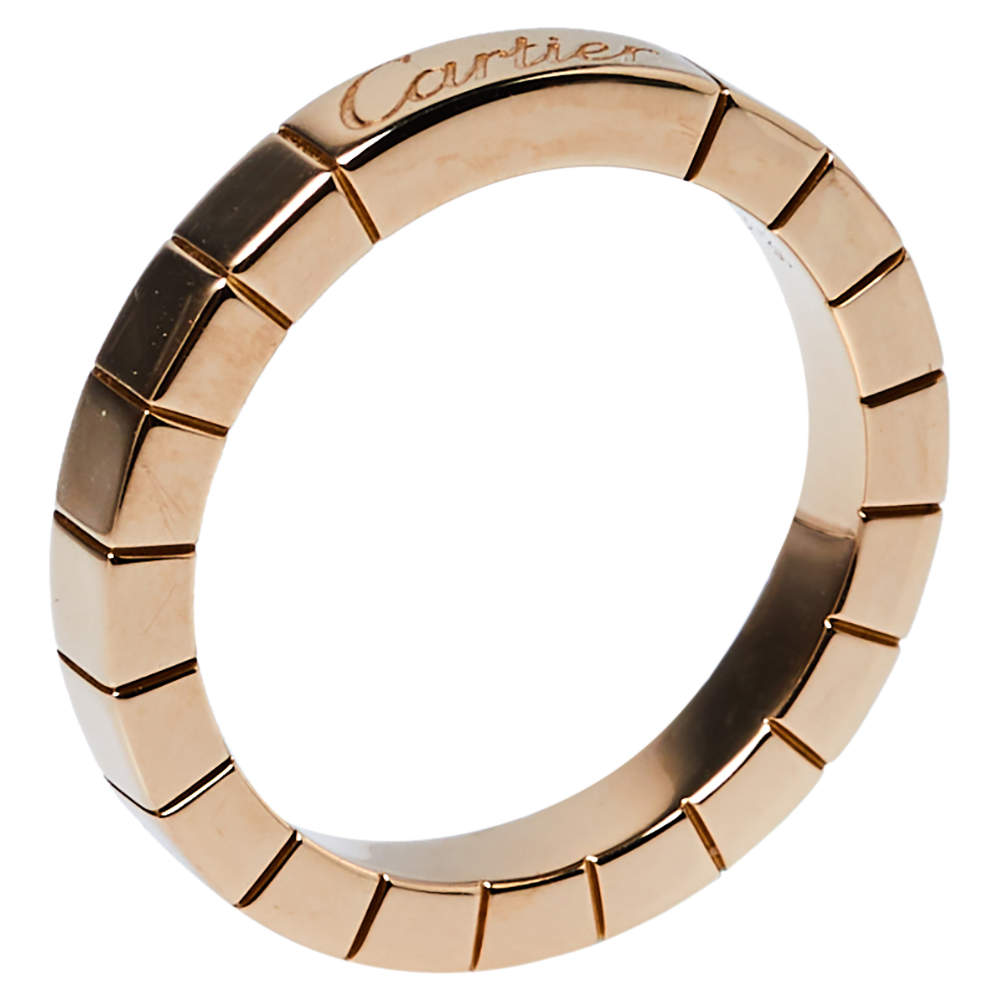 Cartier Laniéres 18K Rose Gold Ring Size 49
